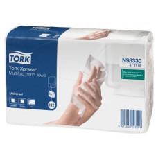 Бумажные листовые полотенца Tork Xpress® Universal сложения Multifold, 190 листов, 2 слоя, размер 21*23,4 см, натуральный, Н2 (Z-сложение) (20 шт/упак), арт. 471103