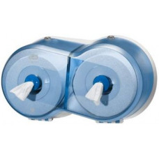 Двойной диспенсер для туалетной бумаги в мини рулонах Tork SmartOne®, синий, Т9, арт. 472027