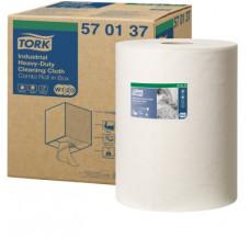 Нетканый материал суперпрочный в малом рулоне со съемной втулкой Tork Premium, 160 листов, 1 слой, размер 38*32 см, белый, W1/W2/W3, арт. 570137