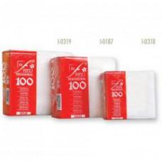 Салфетки столовые линия Infliore 2 слоя, 25*25 см, 100 листов, бордовый, арт. 385
