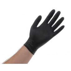 Перчатки нитриловые для малых работ Jetapro, черные, 100 шт/уп , размер XL, арт. 10714