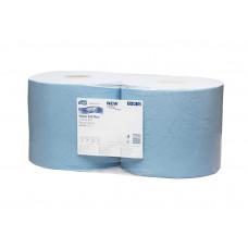 Протирочная бумага суперпрочная в рулоне со съемной втулкой Tork Advanced, голубая, 350 листов, 3 слоя, размер 119*24 см, W1/W2 (2 шт/упак), арт. 130081