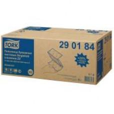Бумажные листовые полотенца Advanced Singlefold сложения ZZ, Tork, 200 листов, 2 слоя, размер 23*23 см, белый, Н3 (V / ZZ-сложение) (20 шт/упак), арт. 290184