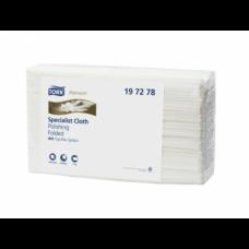 Нетканый материал для полировки в салфетках Tork Premium, 125 листов, 1 слой, размер 35,5*42,9 см, белый, W4 (5 шт/упак), арт. 197278