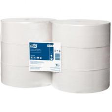 Туалетная бумага в больших рулонах Universal, Tork, 1слой, размер 525*10 см, белый, Т1 (6 шт/упак), арт. 120195