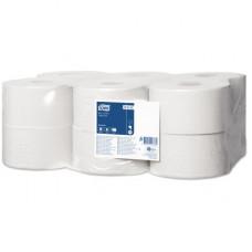 Туалетная бумага в мини рулонах Tork Universal, 1 слой, размер 200*10 см, белый, Т2 (12 шт/упак), арт. 120197