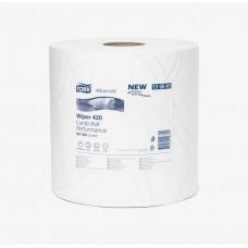 Протирочная бумага в рулоне со съемной втулкой Tork Плюс Advanced, 750 листов, 2 слоя, размер 255*23,5 см, белый, W1/W2 (2 шт/упак), арт. 130041