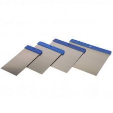 Набор шпателей металлических, 4 шт/5 см, 8 см, 10 см, 12 см, арт. 9100