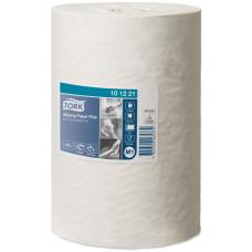 Протирочная бумага в мини рулоне с центральной вытяжкой Tork Плюс Advanced, 214 листов, 2 слоя, размер 75 м*21,5 см, белый, М1 (11 шт/упак), арт. 101221