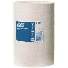 Протирочная бумага в мини рулоне с центр. вытяжкой Tork Universal, 1 слой, размер 120 м*21,5 см, белый, М1 (11 шт/упак), арт. 120123