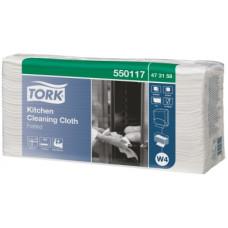 Нетканый материал для кухни Tork Premium, 85 листов, 1 слой, размер 38,5*42 см, белый, W4, арт. 473168