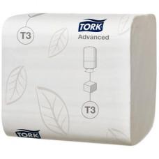 Листовая туалетная бумага Tork Advanced, мягкая, 252 листа, 2 слоя, размер 19*11 см, белый, Т3 (36 шт/упак), арт. 114271