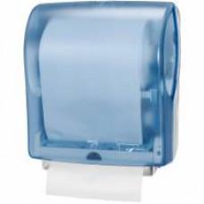 Сенсорный диспенсер для бумажных полотенец в рулонах, ширина 24,7 см, синий, Н13, арт. 471097