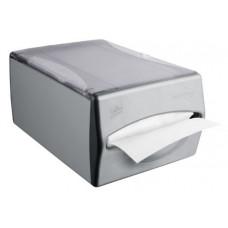 Диспенсер горизонтальный для прилавка, размер 34*15*21 см, серый пластик/алюминий, арт. 477019