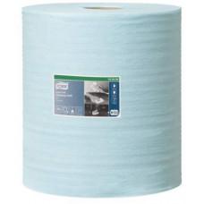 Нетканый материал безворсовый в большом рулоне Tork Premium, 500 листов, 1 слой, размер 180*27,5 см, голубой, арт. 190494