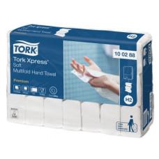 Бумажные листовые полотенца Tork Xpress® Premium сложения Multifold, мягкие, белый, 110 листов, 2 слоя, раземр 21*34 см, Н2 (Z-сложение) (21 шт/упак), арт. 100288