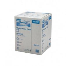 Нетканый материал в малом рулоне со съемной втулкой Tork Premium, 400 листов, 1 слой, размер 152*32 см, белый, W1/W2/W3, арт. 510137