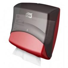 Диспенсер для материалов в салфетках Tork Performance, красный, W4, арт. 654008