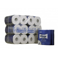 Туалетная бумага в стандартных рулонах Kleenex Premium 4 слоя, 160 листов, 4 рулона в запайке, белый (6 шт/упак), арт. 8484