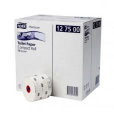 Туалетная бумага Mid-size в миди рулонах Tork Premium мягкая, 2 слоя, размер 90*9,9 см, белый, Т6 (27 шт/упак), арт. 127520