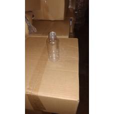 Бутылка пластиковая 0,150 л прозрачный + пробка (200 шт/упак)