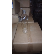 Бутылка пластиковая 1л МILK прозрачный + пробка (50 шт/упак)