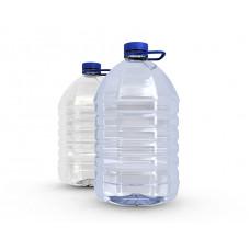 Бутылка пластиковая 5л прозрачный + пробка (35 шт/упак)