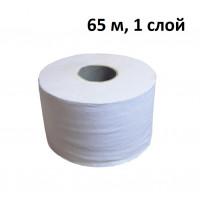 Туалетная бумага в рулонах LIME 1-слой, 65 м, светло-серая, арт. 10.65 (24 шт/упак)