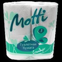 Туалетная бумага в рулонах MOTTI 2-слоя, 17 м, белая, арт. 101714 (4 рул/уп)