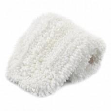 Моп микрофибра, 40 см, белый крупнопетлевой (уши + карман), арт. 33K/11