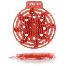 Коврики-вставки для писсуара, ЭКОС (POWER-SCREEN), на 30 дней каждый, комплект 2 шт., аромат «Дыня», цвет красный