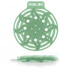 Коврики-вставки для писсуара, ЭКОС (POWER-SCREEN), на 30 дней каждый, комплект 2 шт., аромат «Сосна», цвет зеленый