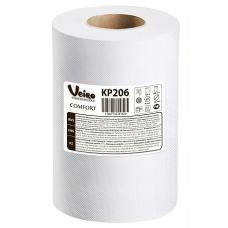 Полотенца для рук в рулонах с центральной вытяжкой Veiro Professional Comfort, 180 м, 800 листов, 20 x 25 см, 2 слоя (6 шт/упак), арт. 206 KP