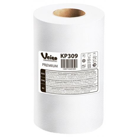 Полотенца для рук в рулонах с центральной вытяжкой Veiro Professional Premium, 75 м, 300 листов, 22 x 25 см, 2 слоя (6 шт/упак), арт. 309 KP      , Veiro Professional