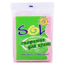 Салфетки для кухни «SOL» 30*38 см (5 шт.), вискоза