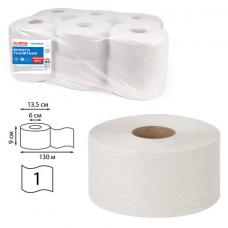 Бумага туалетная 'Первая Цена' LAIMA UNIVERSAL (Система T2) 1-слойная 12 рулонов по 130 метров, цвет натуральный, 112501