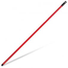 Черенок для уборочного инвентаря 120 см, еврорезьба, металлопластик, красный, IDEA, М 5145