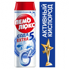 Чистящее средство 480 г, ПЕМОЛЮКС Сода-5 Экстра, 'Ослепительно Белый', порошок, 2415956