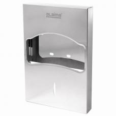 Диспенсер для покрытий на унитаз LAIMA PROFESSIONAL INOX, 1/4 сложения, нержавеющая сталь, зеркальный, 605705