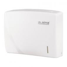 Диспенсер для полотенец LAIMA PROFESSIONAL ORIGINAL (Система H2), Interfold, белый, ABS-пластик, 605759