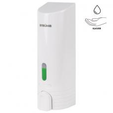 Диспенсер для жидкого мыла ЛАЙМА, наливной, 0,38 л, ABS-пластик, белый, 603923
