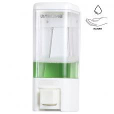 Диспенсер для жидкого мыла ЛАЙМА, НАЛИВНОЙ, 0,48 л, ABS пластик, белый, 605052