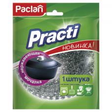 Губка (мочалка) для посуды металлическая, БОЛЬШАЯ, сетчатая, 38 г, PACLAN 'Practi'