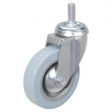 Колеса для уборочной тележки с штоком без резьбы, диаметр 50 мм, КОМПЛЕКТ 4 штуки, BRABIX, 605379