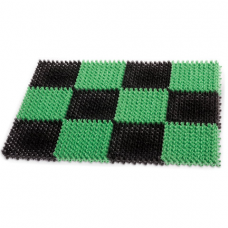 Коврик входной пластиковый грязезащитный 'ТРАВКА' 55х40 см, толщина 18 мм, зеленый-черный, IDEA, М2280, М 2280
