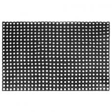 Коврик входной резиновый крупноячеистый грязезащитный, 80х120 см, толщина 16 мм, черный, VORTEX, 20003
