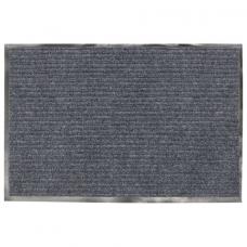 Коврик входной ворсовый влаго-грязезащитный, 90х60 см, толщина 7 мм, серый, VORTEX