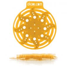 Коврики-вставки для писсуара, ЭКОС (POWER-SCREEN), на 30 дней каждый, комплект 2 шт., аромат 'Апельсин', цвет оранжевый, PWR-4O
