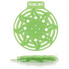 Коврики-вставки для писсуара, ЭКОС (POWER-SCREEN), на 30 дней каждый, комплект 2 шт., аромат 'Яблоко', цвет салатовый, PWR-2G