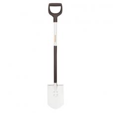 Лопата штыковая FISKARS, облегченная, D-образная ручка, высота 105 см, алюминиевый черенок, 1019605